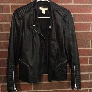 H&M Faux Leather Moto Jacket